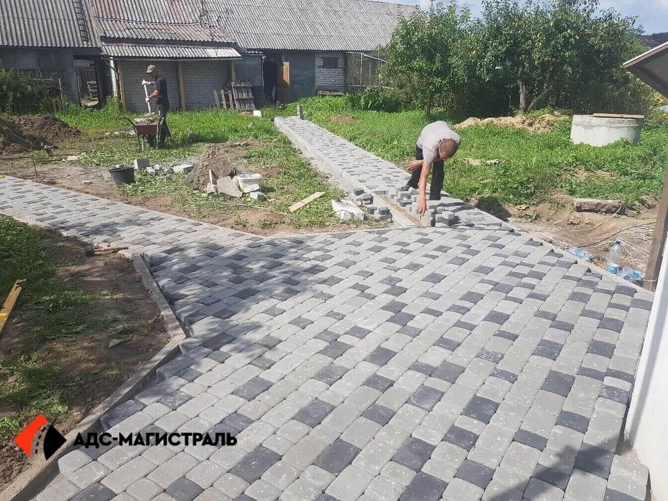 мощение пешеходными дорожками п. Новоселье фото 5