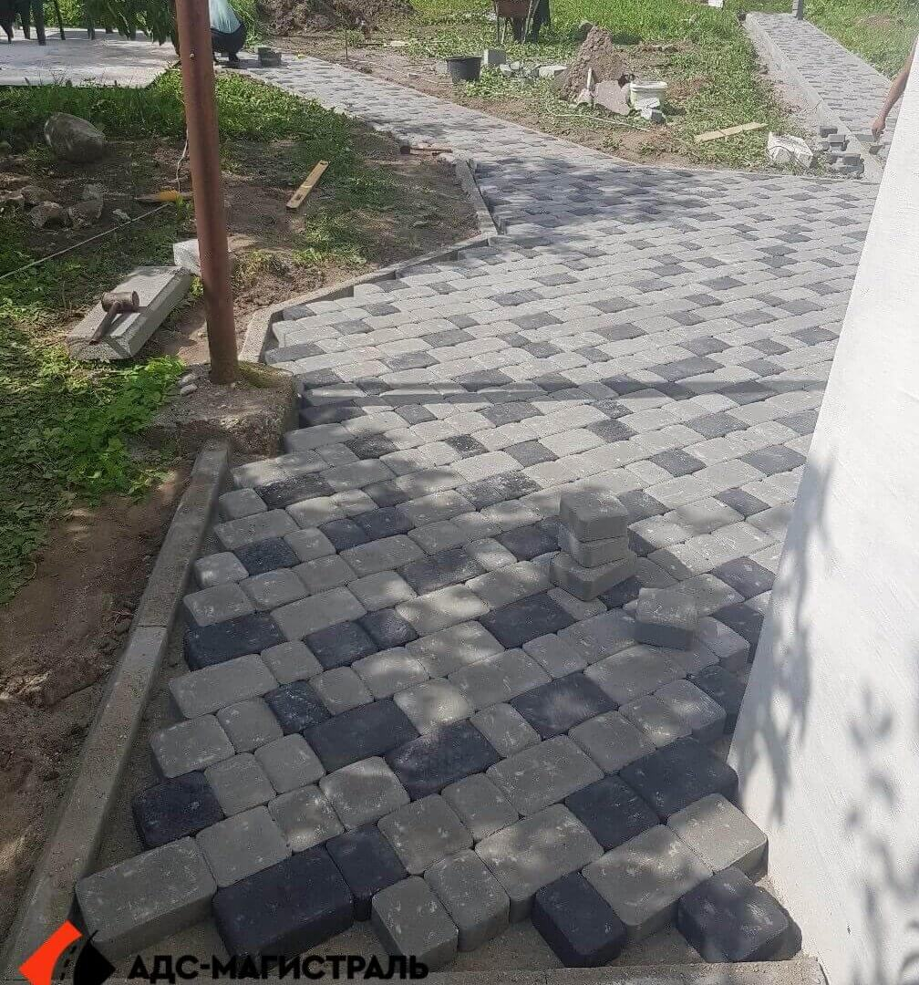 мощение пешеходными дорожками п. Новоселье фото 6