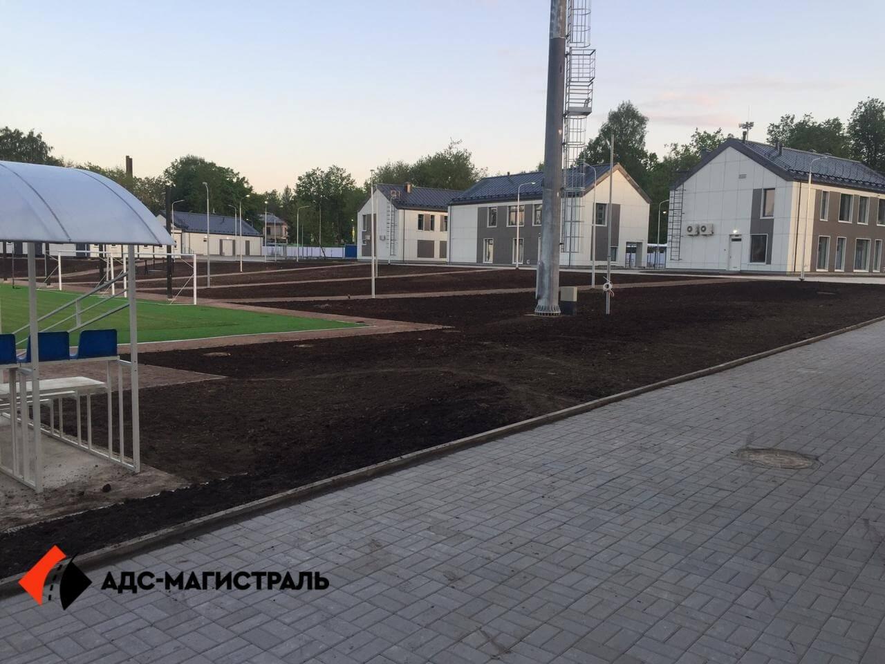 Благоустройство территории стадиона в г. Павловск фото 10