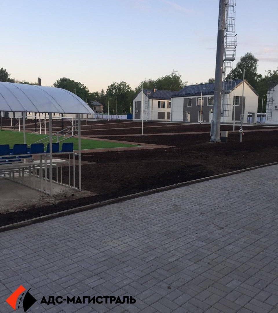 Благоустройство территории стадиона в г. Павловск фото 4