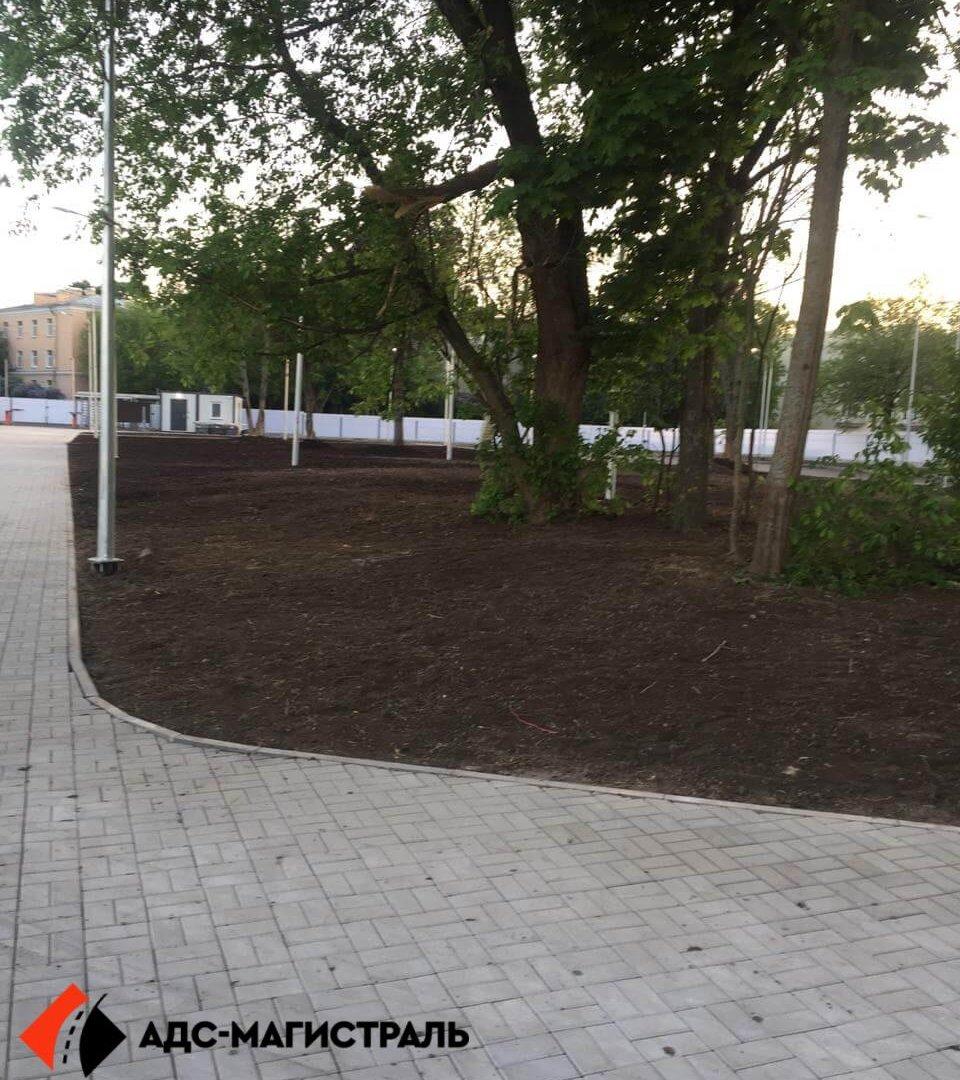 Благоустройство территории стадиона в г. Павловск фото 5