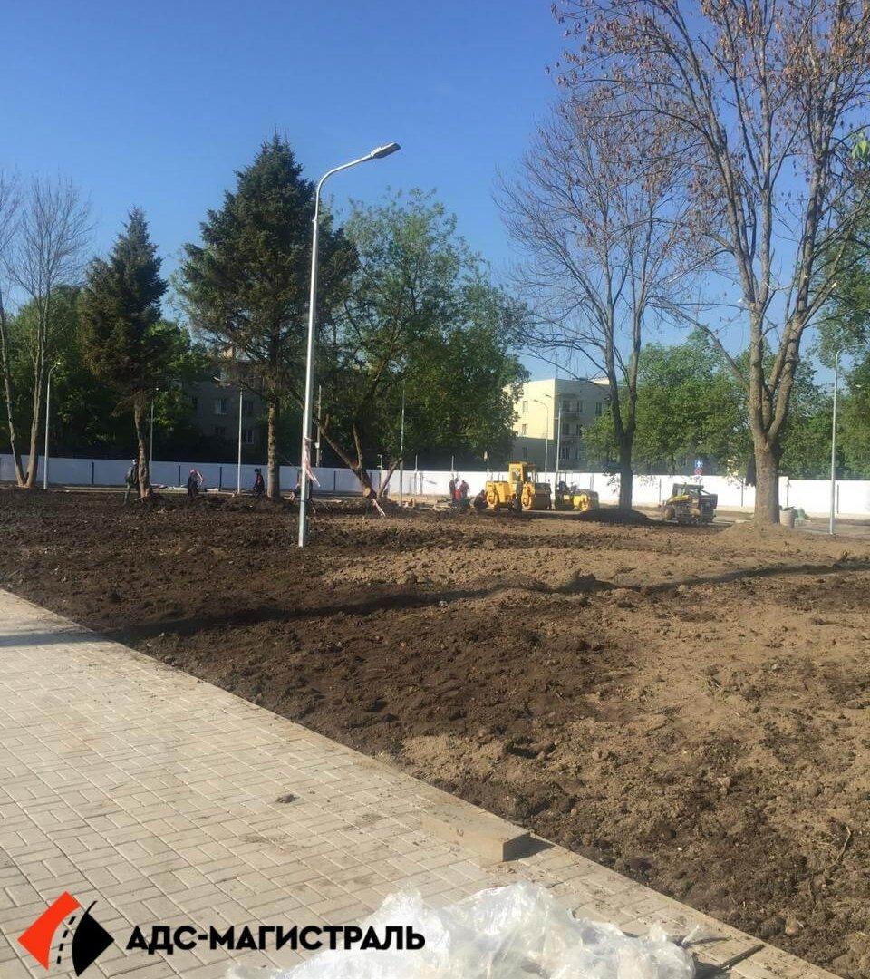 Благоустройство территории стадиона в г. Павловск фото 6
