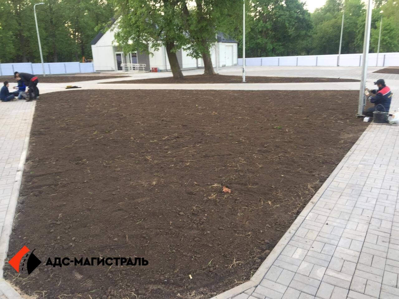 Благоустройство территории стадиона в г. Павловск фото 7