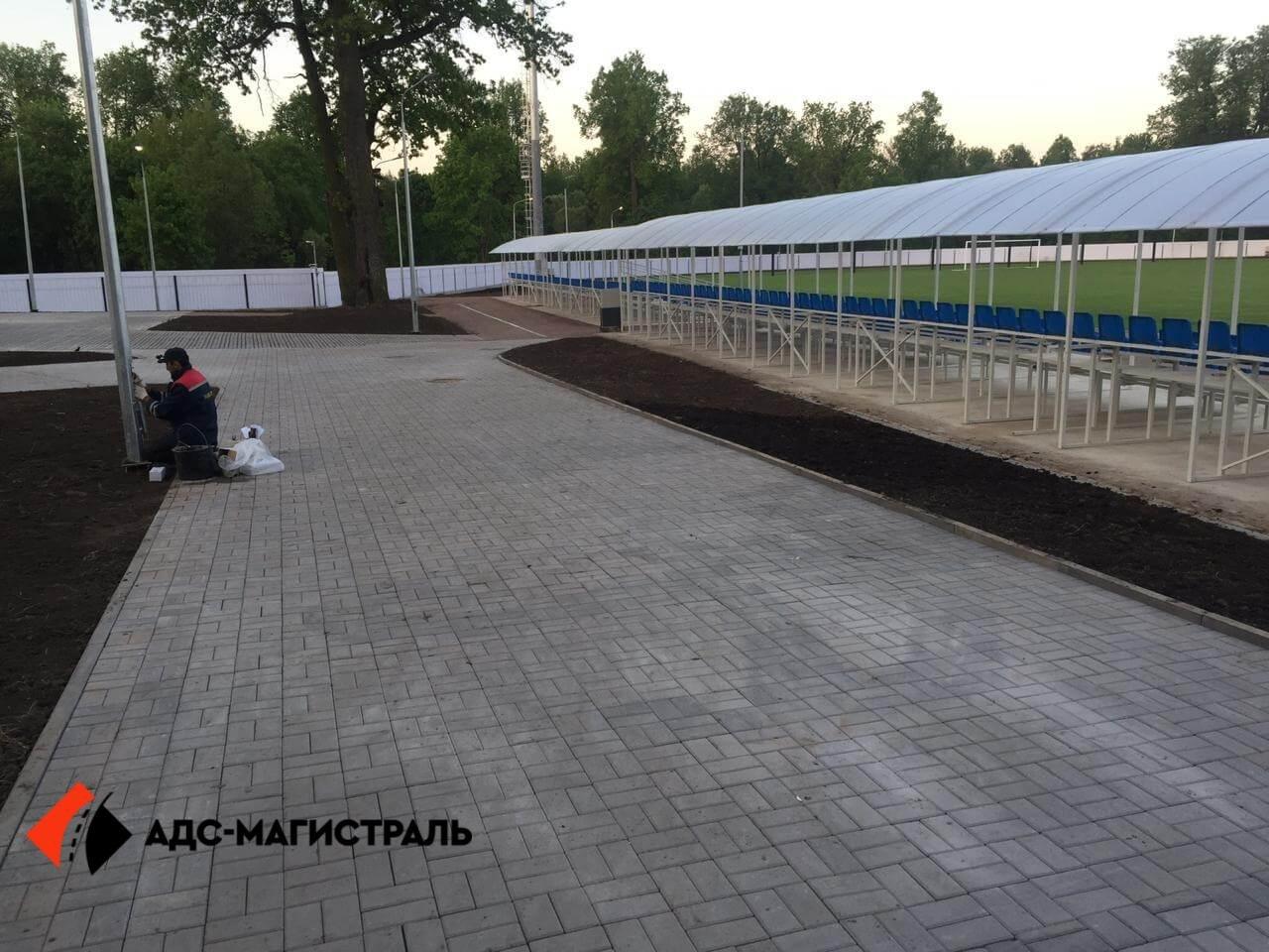 Благоустройство территории стадиона в г. Павловск фото 8