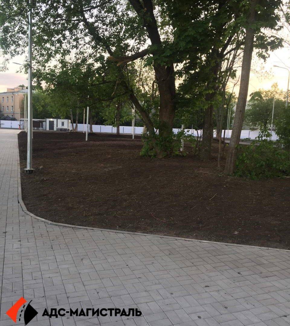 Благоустройство территории стадиона в г. Павловск фото 9