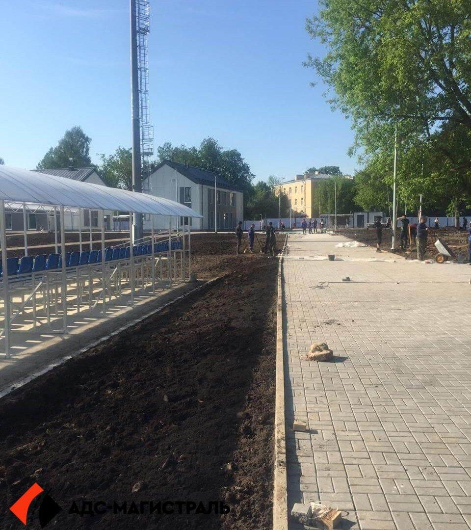 Благоустройство территории стадиона в г. Павловск фото 1