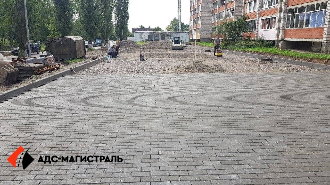 укладка тротуарной плитки Петергоф фото 3