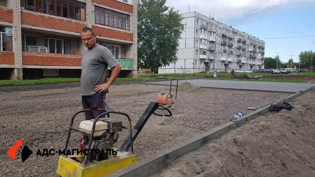 укладка тротуарной плитки Петергоф фото 1