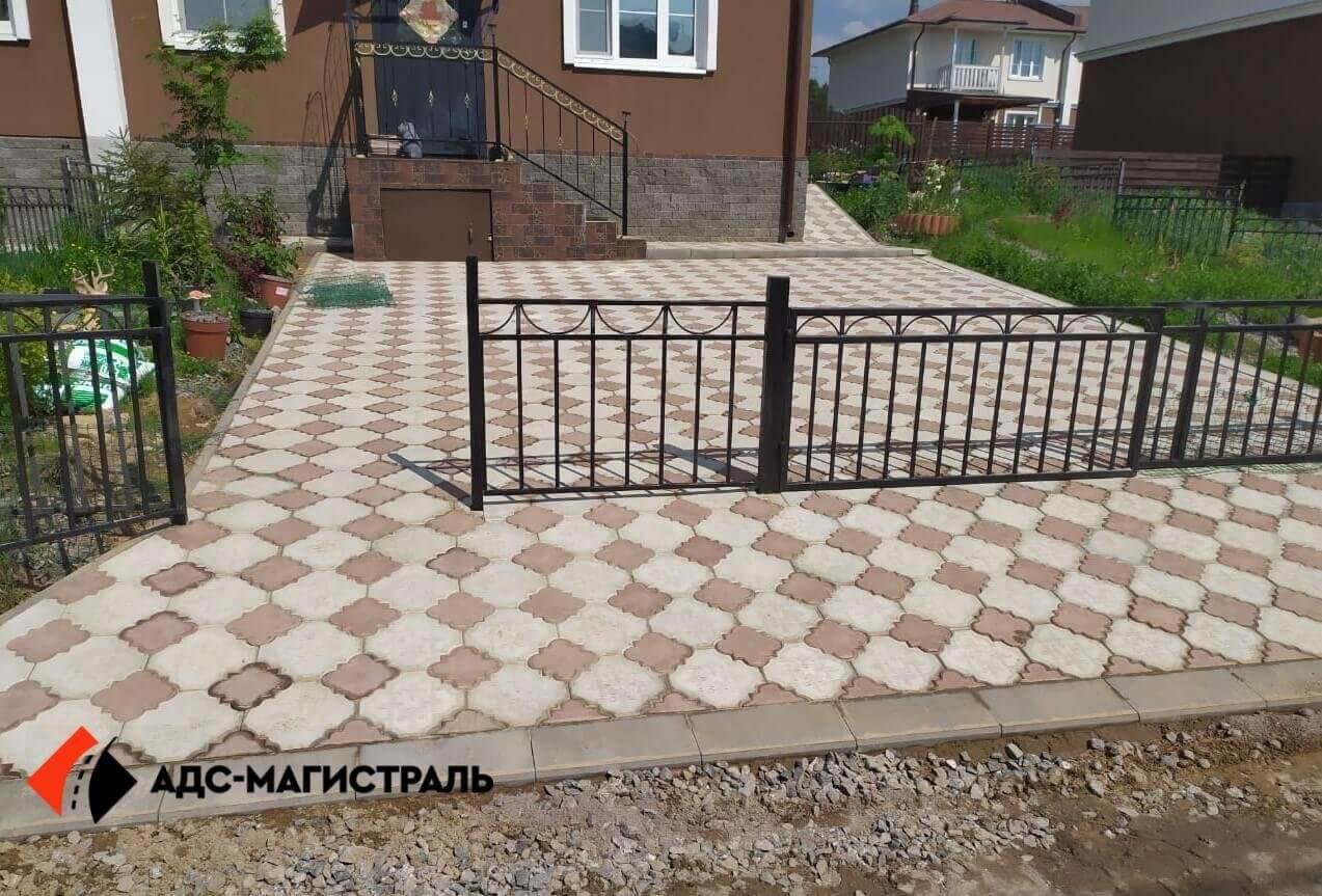 укладка тротуарной плитки п. Поселённое фото (5)