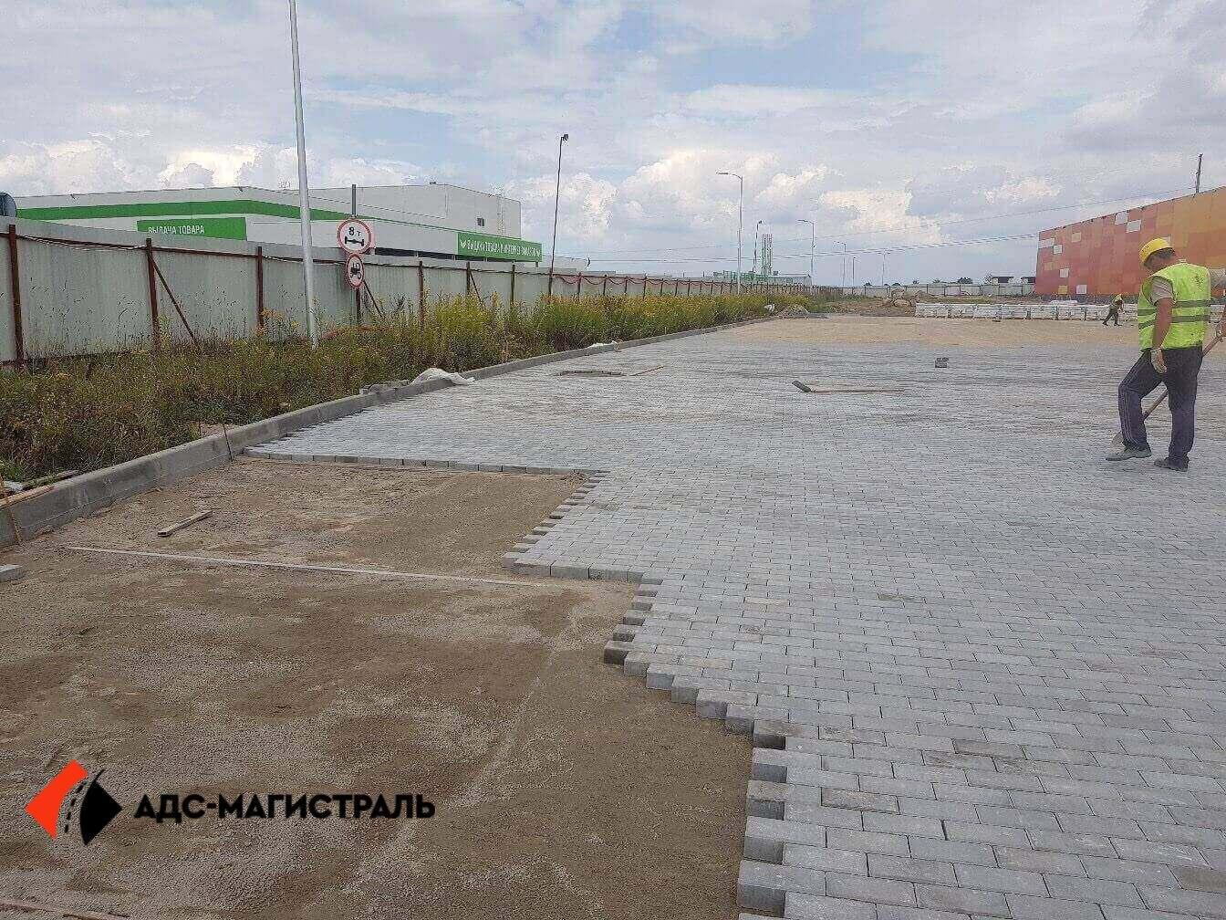 укладка тротуарной плитки Леруа Мерлен фото 4
