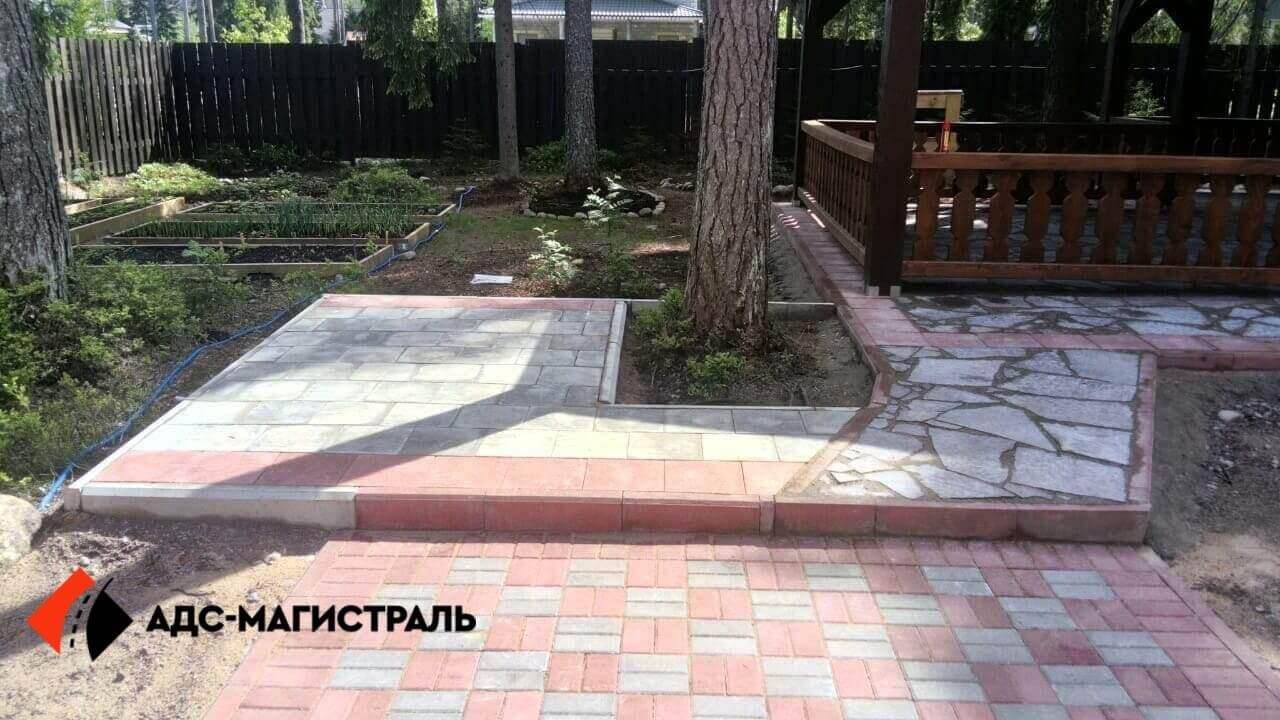 мощение тротуарной плиткой посёлок Цвелодубово фото 4