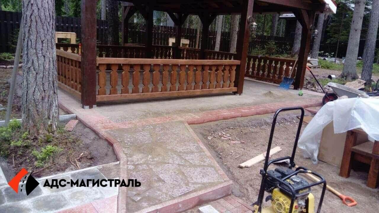 мощение тротуарной плиткой посёлок Цвелодубово фото 5