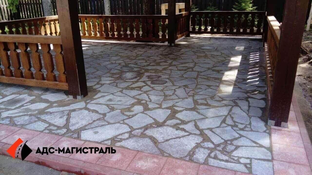 мощение тротуарной плиткой посёлок Цвелодубово фото 6