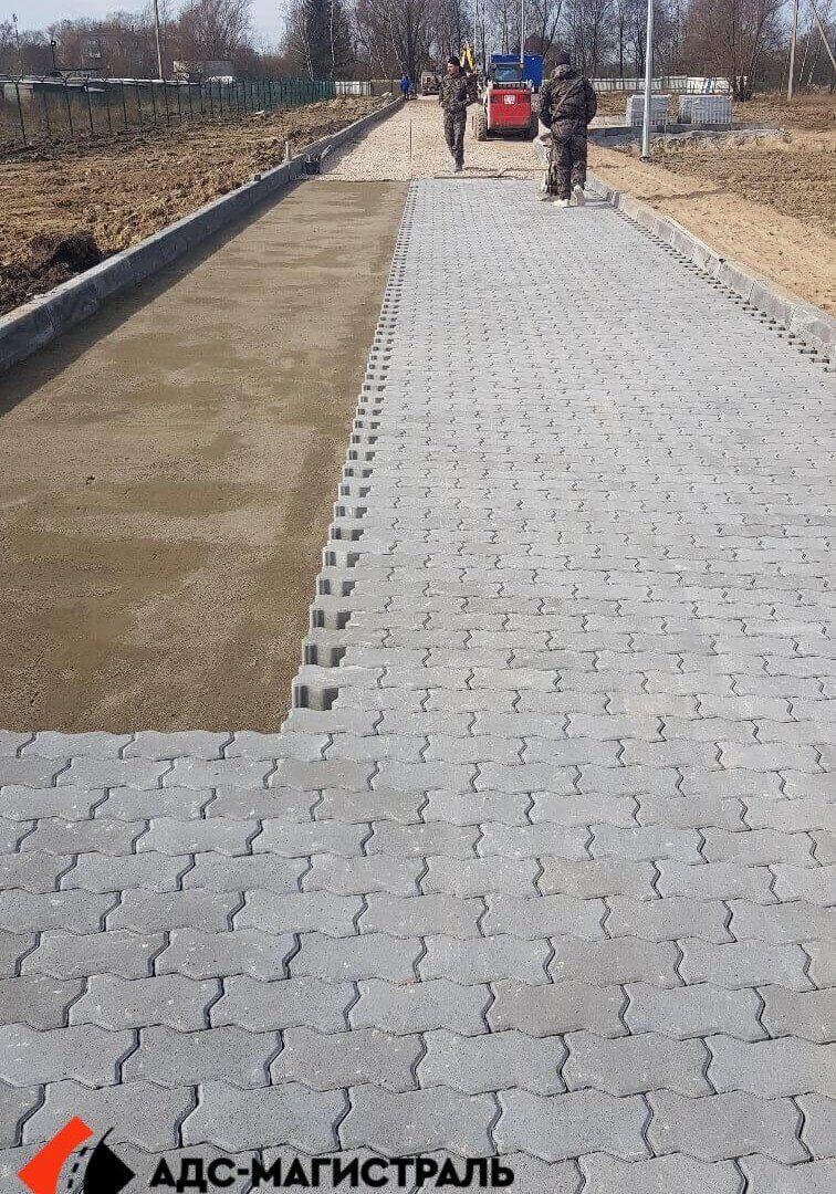 Укладка тротуарной плитки Металлострой фото 5