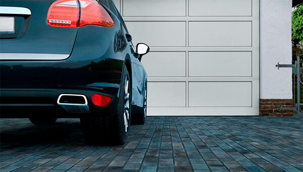укладка плитки под парковку автомобиля