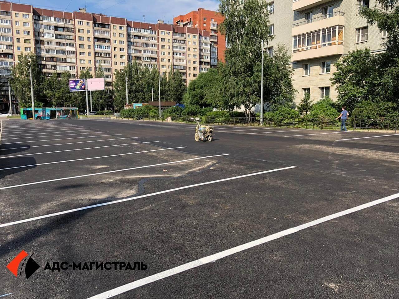 укладка асфальта на парковке Уточкина фото 8