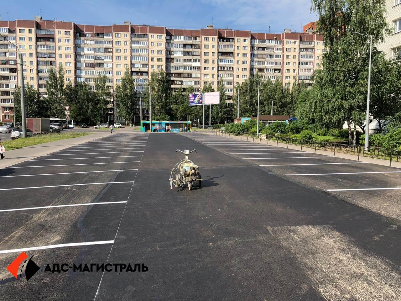 укладка асфальта на парковке Уточкина фото 9