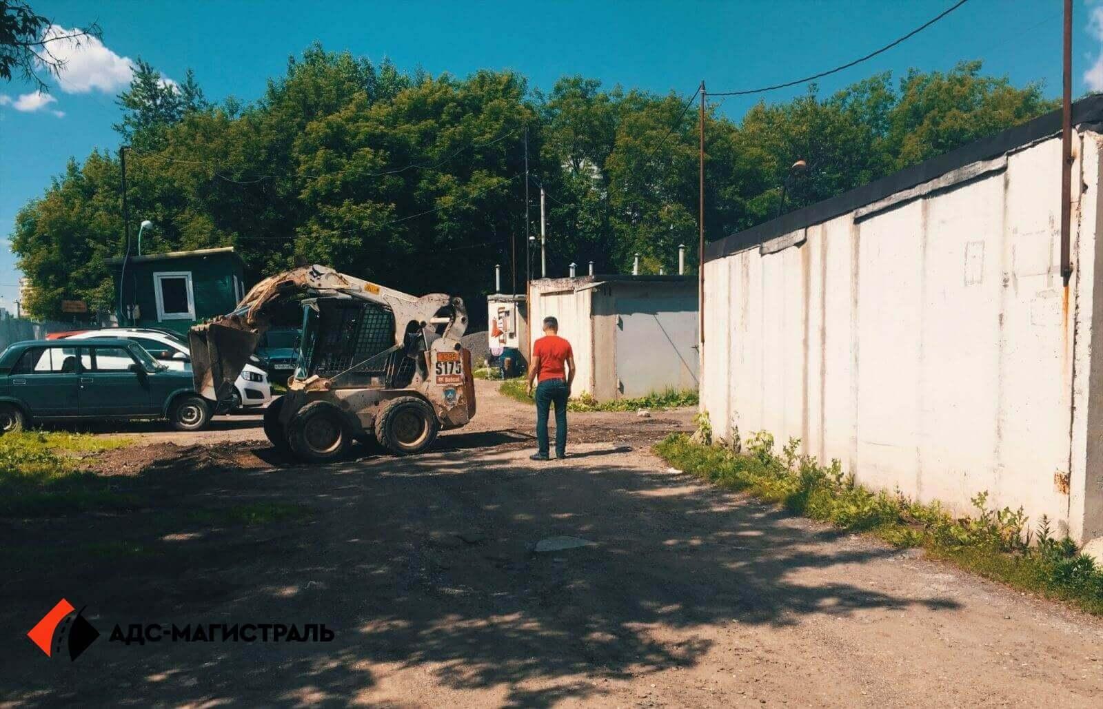 Асфальтирование территории гаражного массива фото 1