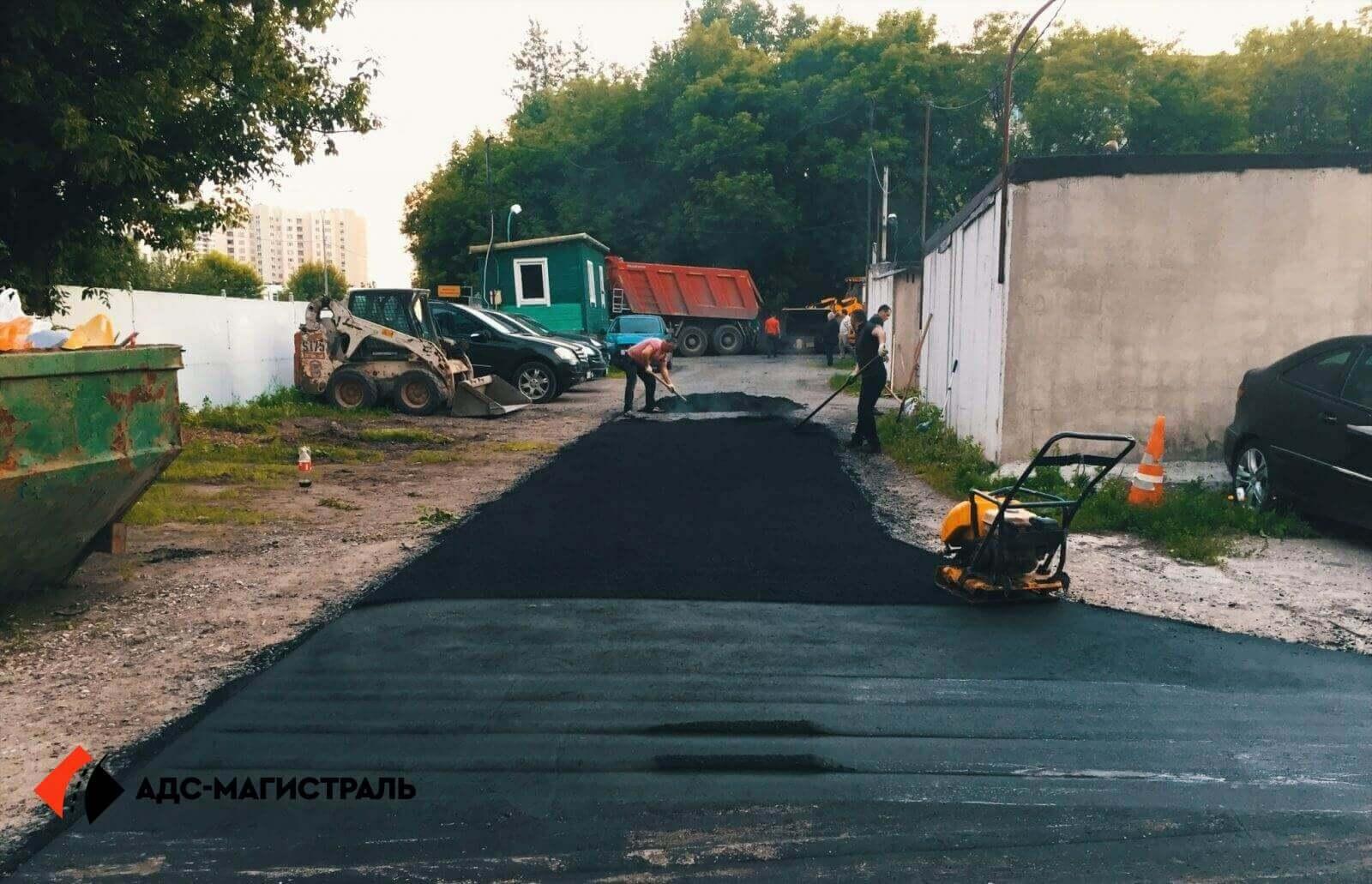 Асфальтирование территории гаражного массива фото 7
