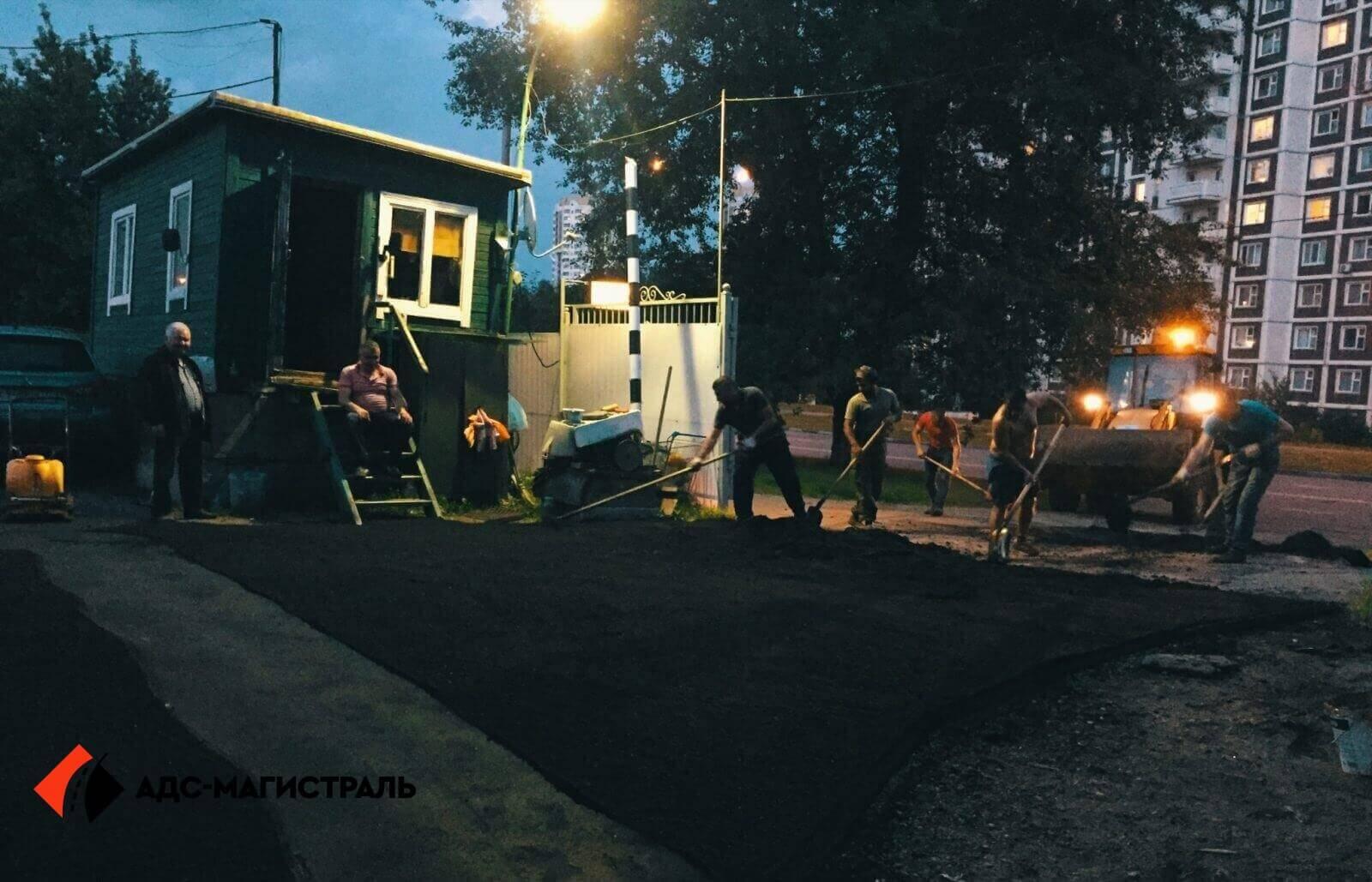 Асфальтирование территории гаражного массива фото 8