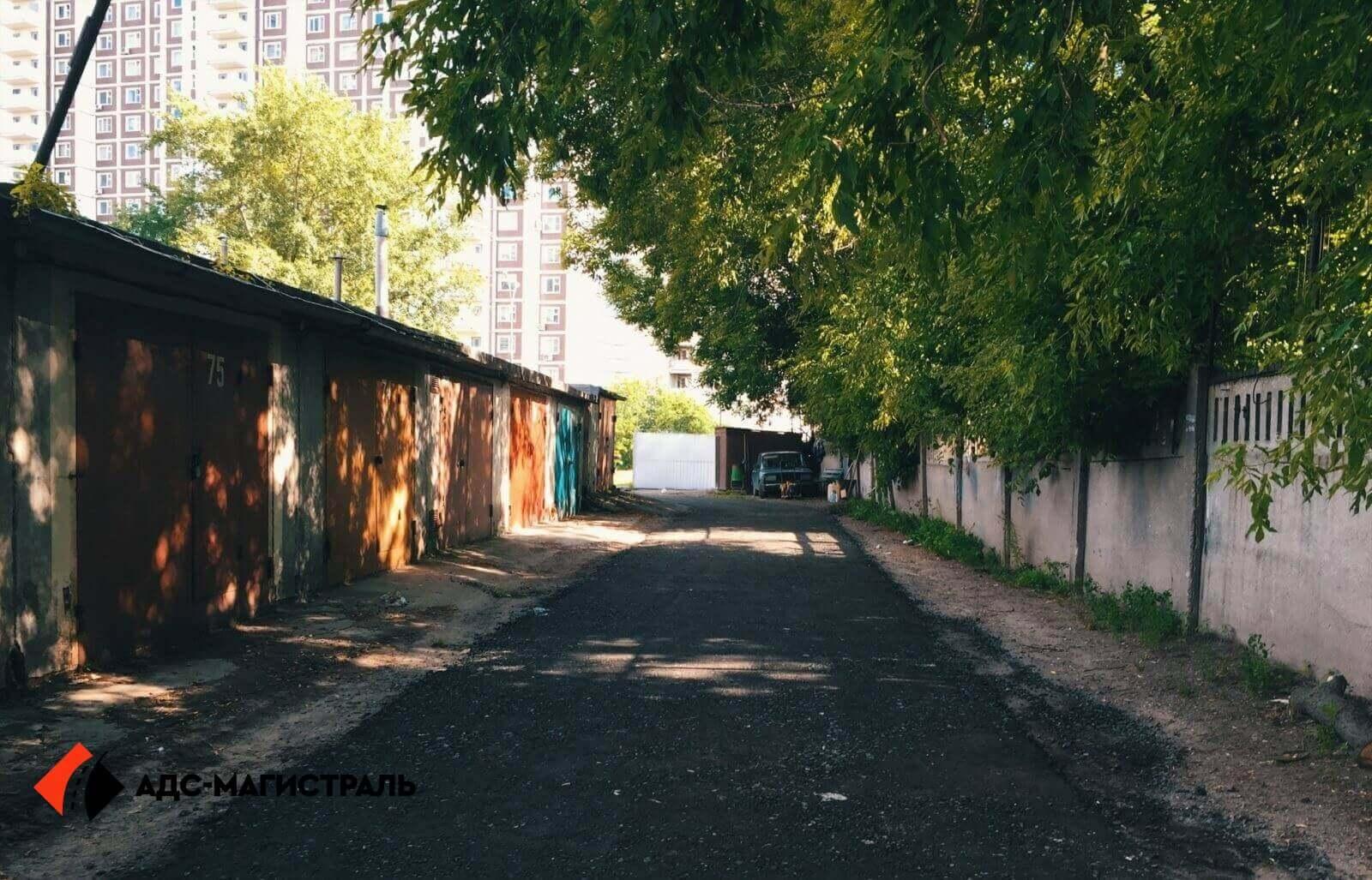 Асфальтирование территории гаражного массива фото 4