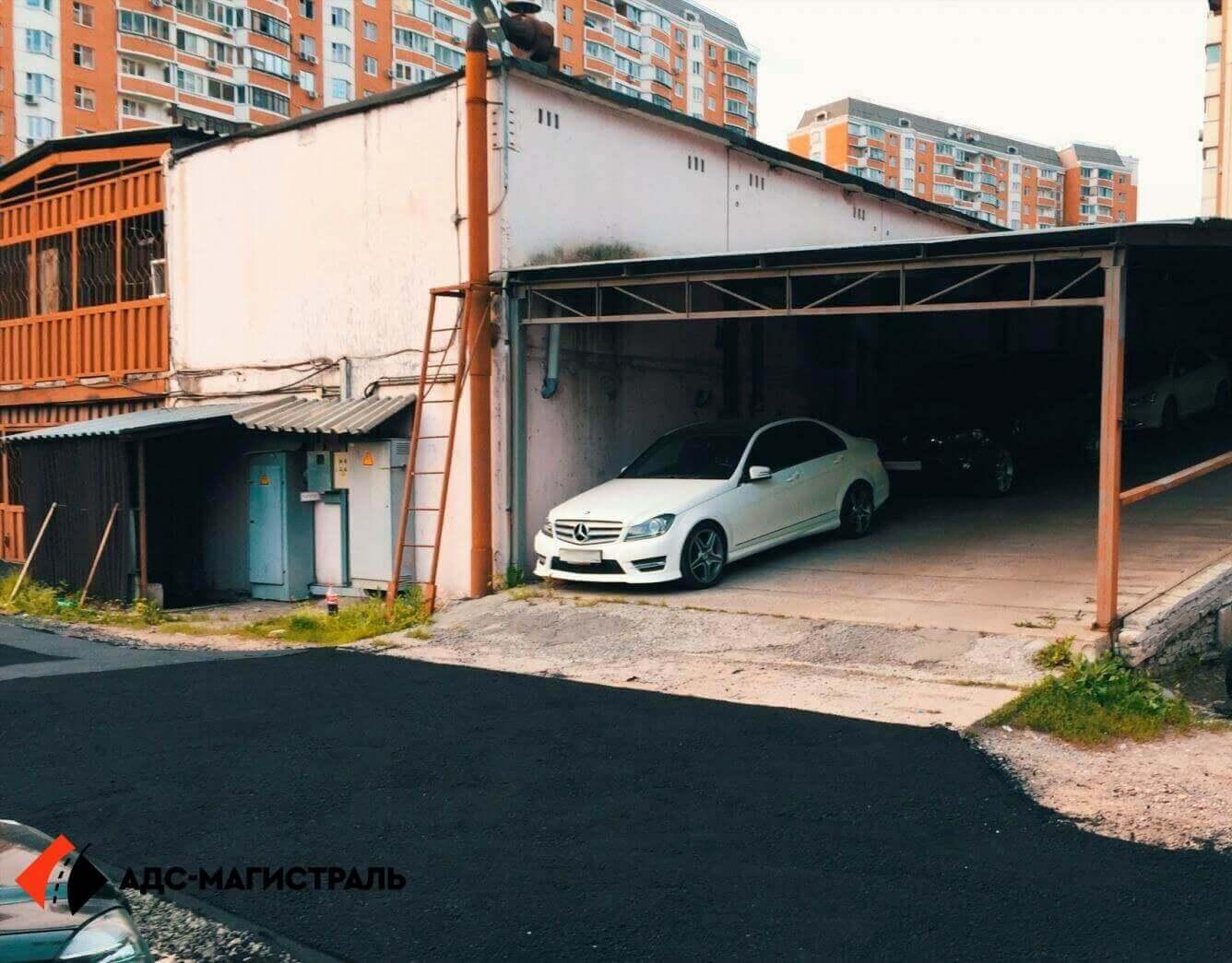 Асфальтирование территории гаражного массива фото 6