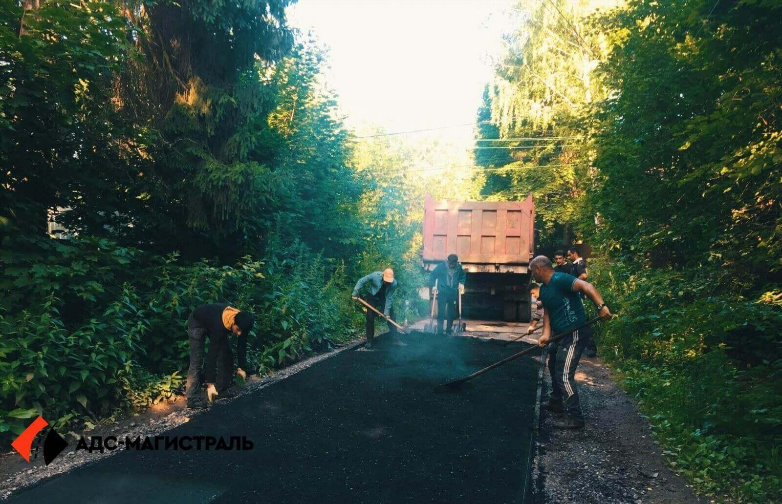 Асфальтирование дороги Волковицы фото 5