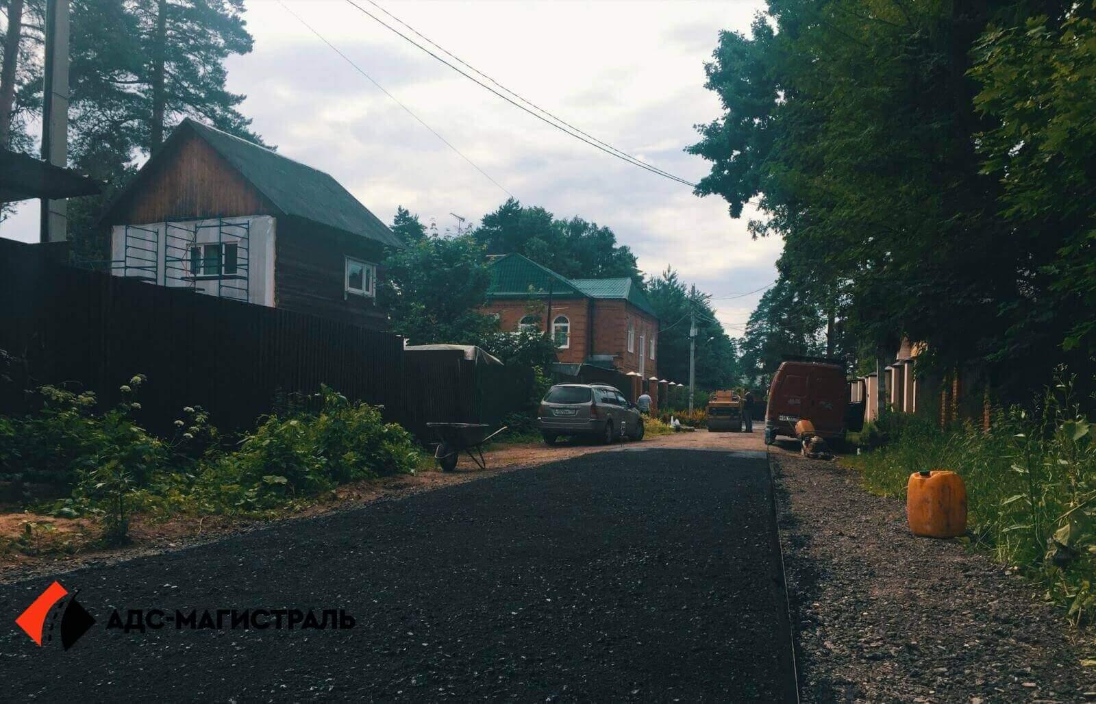 Асфальтирование дороги Волковицы фото 2