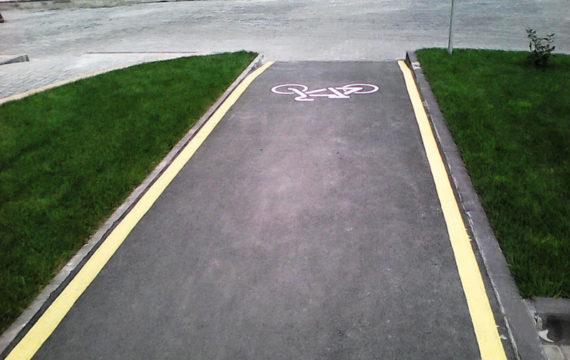 асфальтирование велосипедных дорожек фото