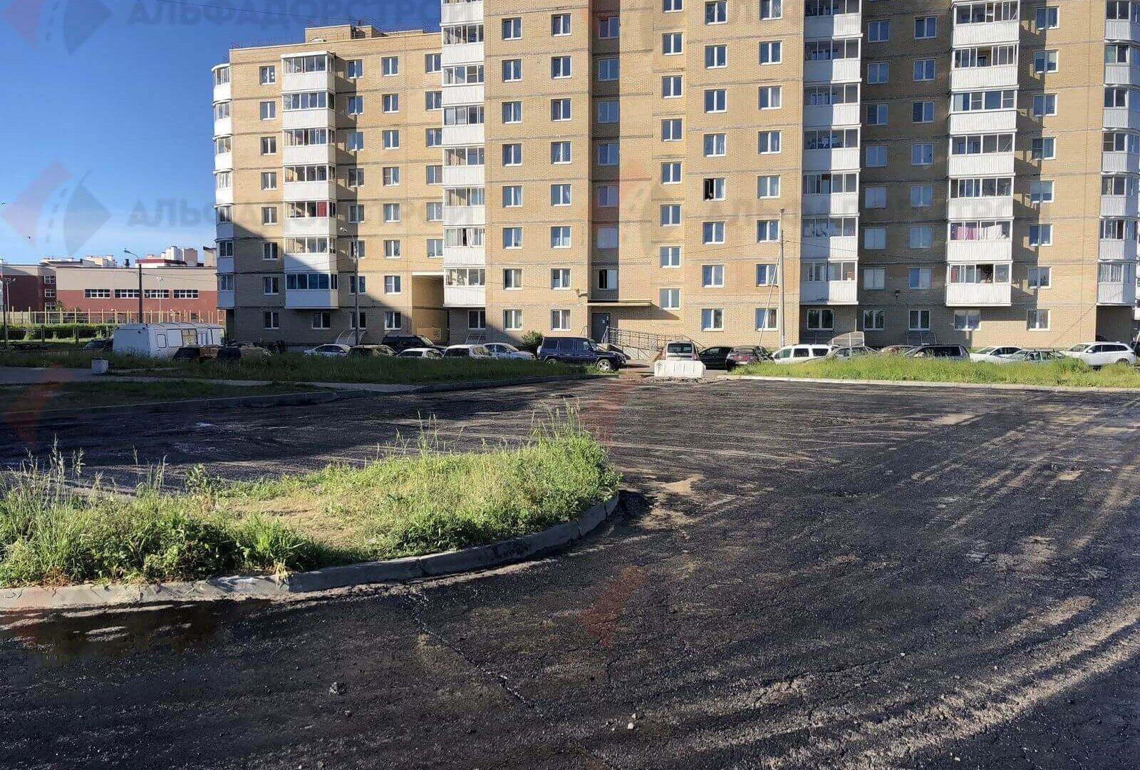 асфальтирование парковки красное село фото 1