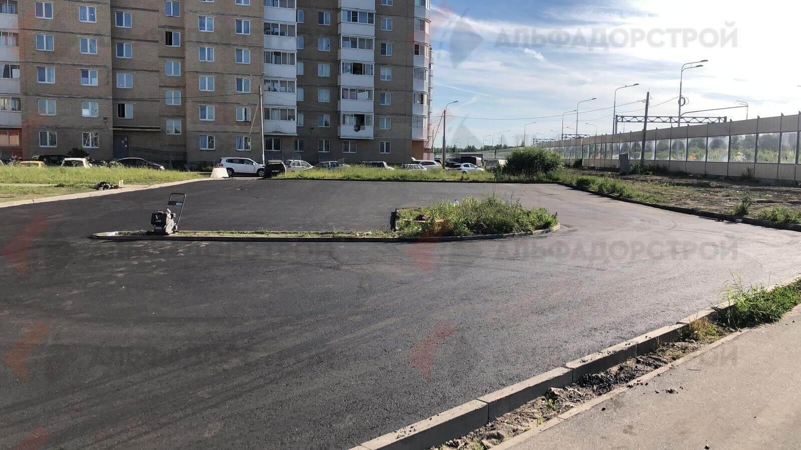 асфальтирование парковки красное село фото 10