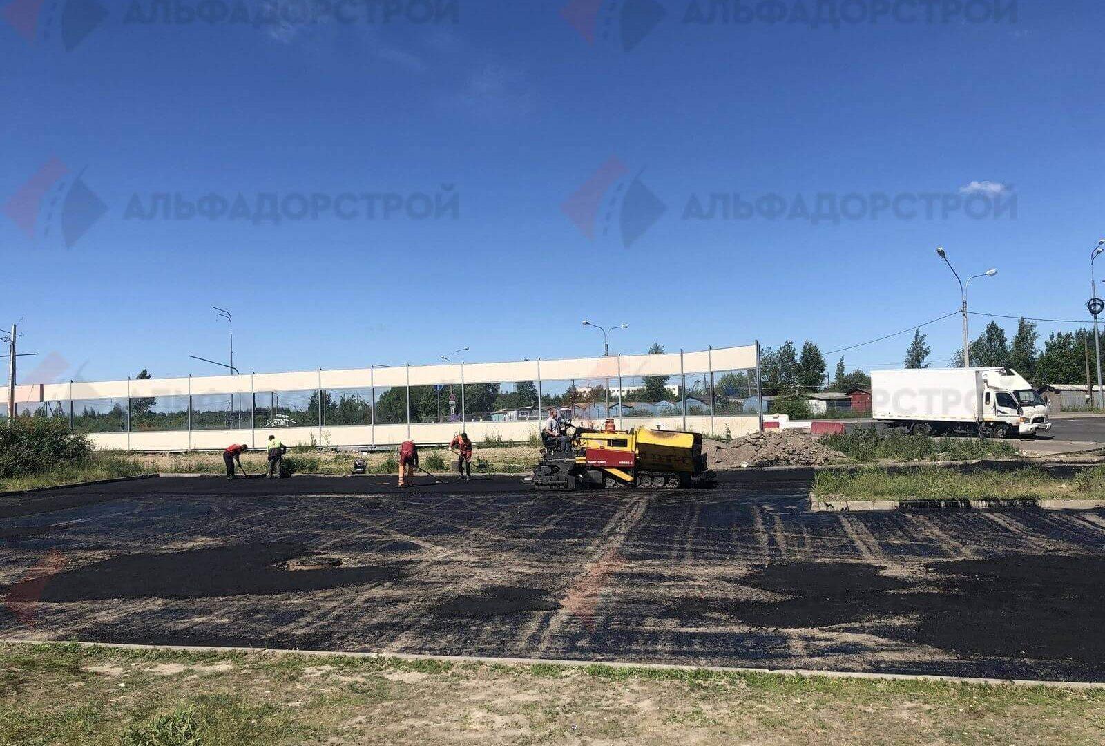 асфальтирование парковки красное село фото 4
