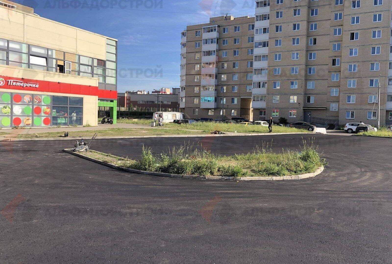 асфальтирование парковки красное село фото 8